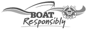 Boat Responsibly in black and white USCG Right
